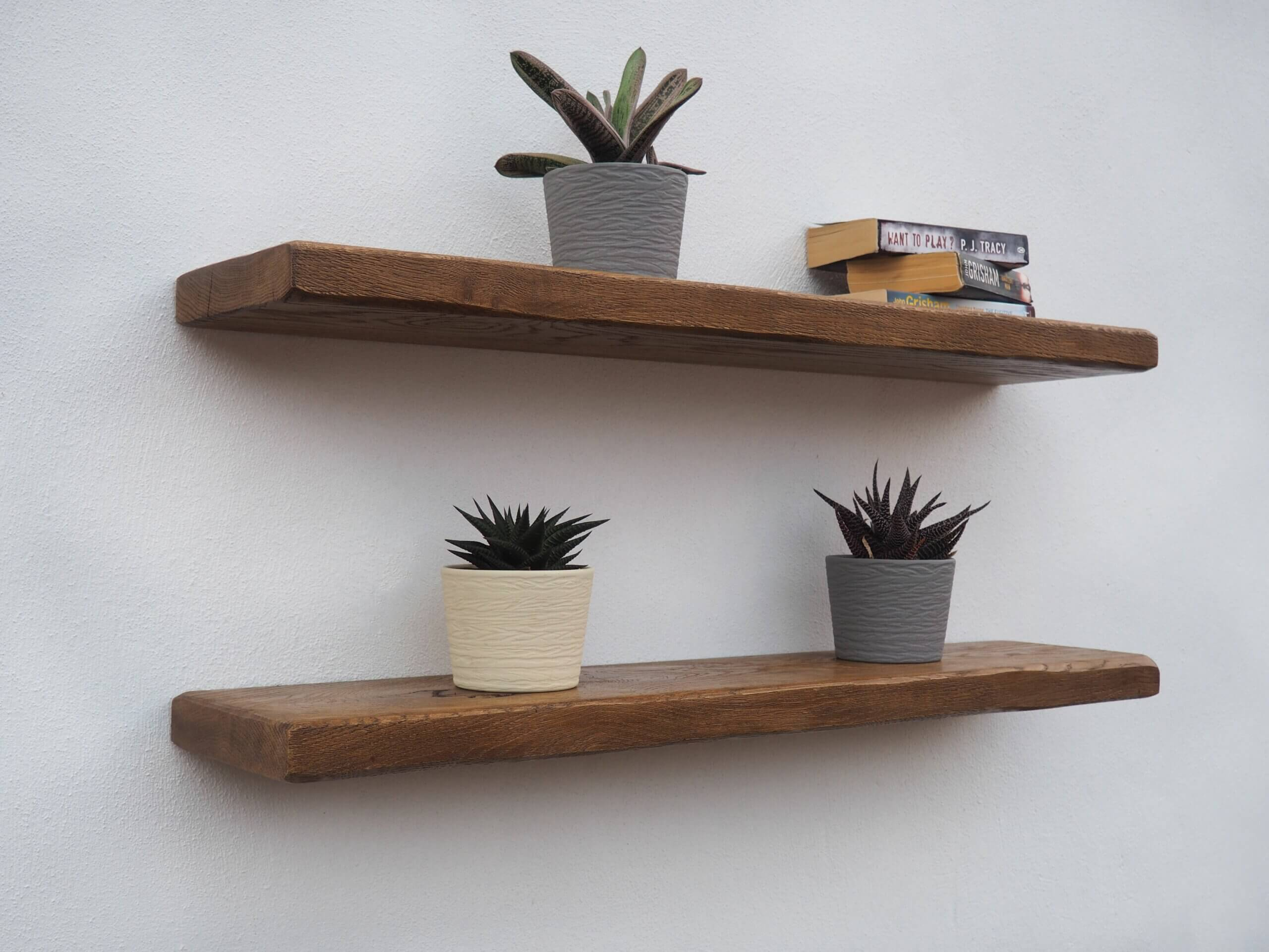 Rustic Oak Shelves